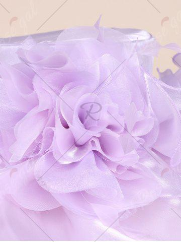 Trendy Oversize Organza Layered Flowers Sun Hat - SUEDE ROSE  Mobile