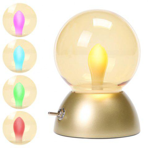 Latest Retro Style USB Charging Bulb Colorful Bedlamp Night Light - GOLDEN  Mobile