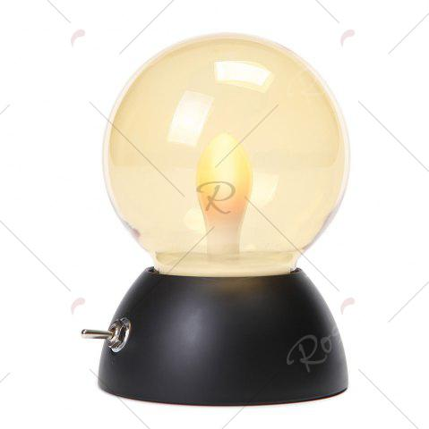 Discount Retro Style USB Charging Bulb Colorful Bedlamp Night Light - BLACK  Mobile