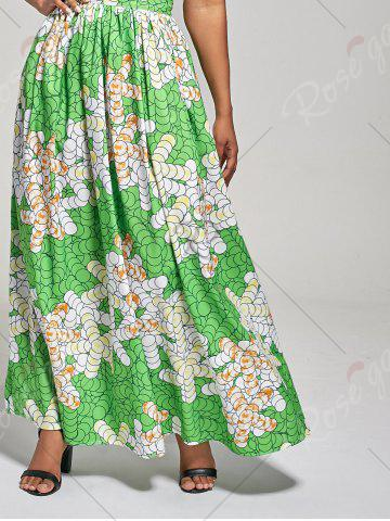 Fashion African High Waist Printed Skirt - M GREEN Mobile