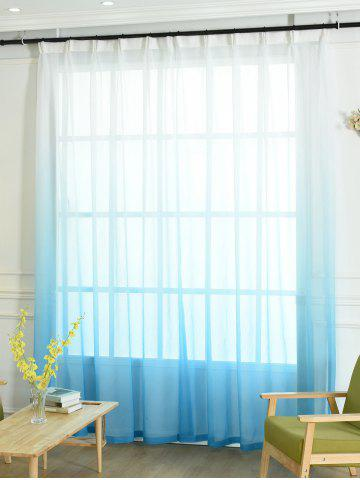 Outfits Window Screen Ombre Decorative Sheer Tulle Curtain BLUE W42*L95INCH