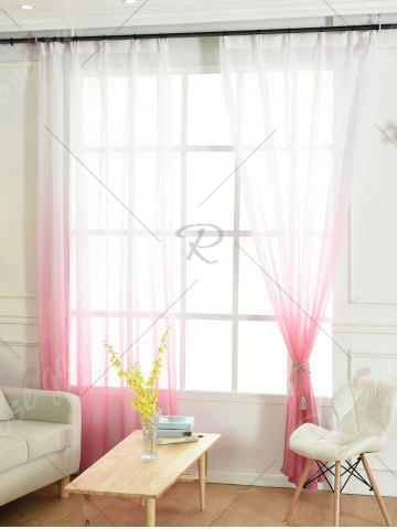Sale Window Screen Ombre Decorative Sheer Tulle Curtain - W42*L63INCH PINK Mobile