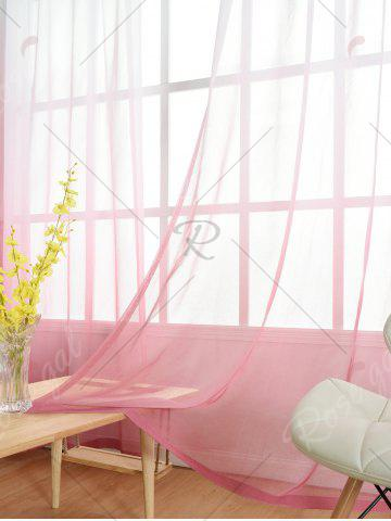 Chic Window Screen Ombre Decorative Sheer Tulle Curtain - W42*L63INCH PINK Mobile