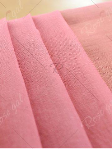 Buy Window Screen Ombre Decorative Sheer Tulle Curtain - W42*L63INCH PINK Mobile