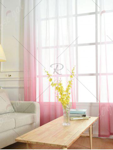 Trendy Window Screen Ombre Decorative Sheer Tulle Curtain - W42*L63INCH PINK Mobile