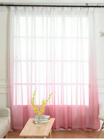 Cheap Window Screen Ombre Decorative Sheer Tulle Curtain - W42*L63INCH PINK Mobile