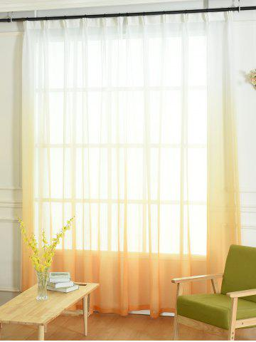 Store Window Screen Ombre Decorative Sheer Tulle Curtain - W54*L95INCH ORANGE Mobile