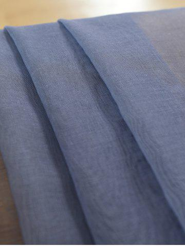 Store Window Screen Ombre Decorative Sheer Tulle Curtain - W42*L63INCH BLUE GRAY Mobile