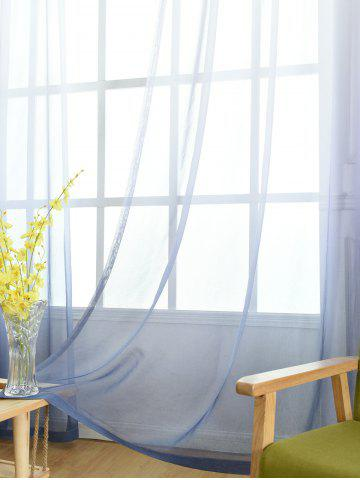 Affordable Window Screen Ombre Decorative Sheer Tulle Curtain - W42*L63INCH BLUE GRAY Mobile