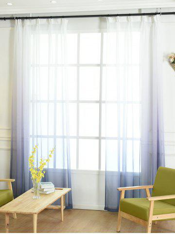 Best Window Screen Ombre Decorative Sheer Tulle Curtain - W42*L63INCH BLUE GRAY Mobile