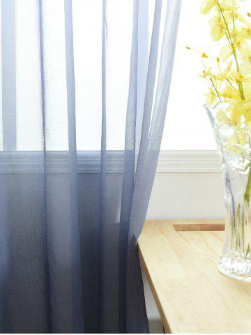 New Window Screen Ombre Decorative Sheer Tulle Curtain - W42*L63INCH BLUE GRAY Mobile