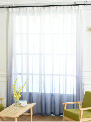 Affordable Window Screen Ombre Decorative Sheer Tulle Curtain - W54*L84INCH BLUE GRAY Mobile