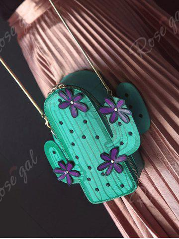Latest Novelty Cactus Shaped Crossbody Bag - GREEN  Mobile
