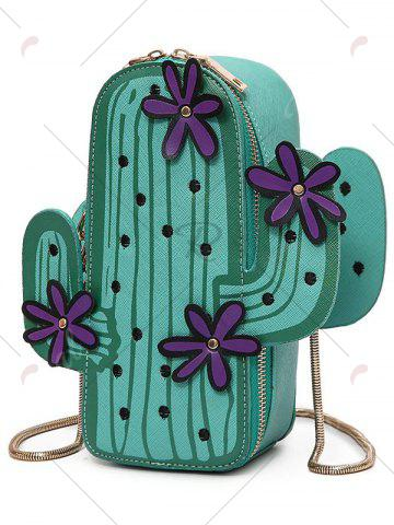 Outfits Novelty Cactus Shaped Crossbody Bag - GREEN  Mobile