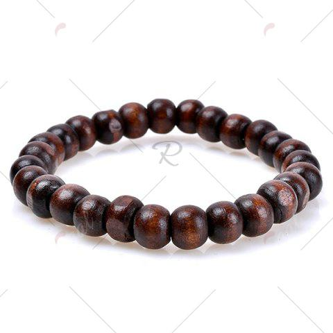 Discount Faux Leather Woven Beaded Friendship Bracelets Set - COFFEE  Mobile