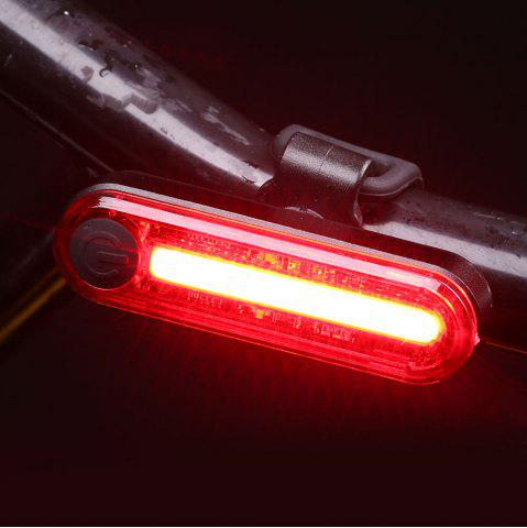 New Outdoor Sport Cycling Clip On USB Charging Bicycle Light - RED  Mobile