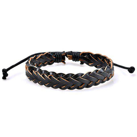 Outfit Beaded Faux Leather Woven Friendship Bracelets - COLORMIX  Mobile