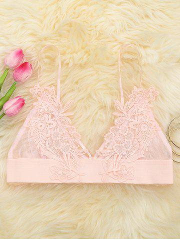 Shops Applique Mesh Triangle Bralette PINK L