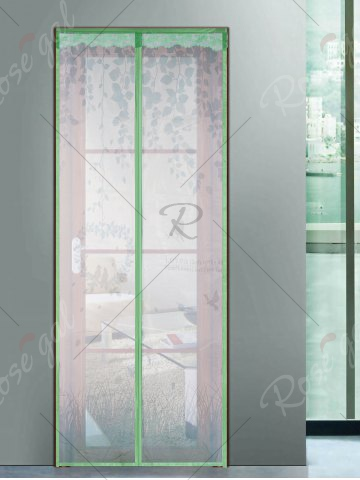 Hot Self-Closing Anti Insects Mesh Magnetic Door Curtain - 90*210CM GREEN Mobile