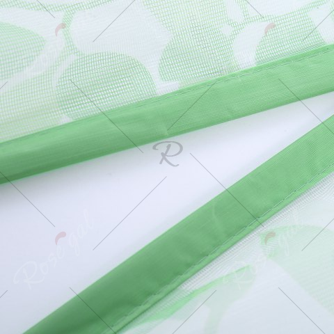 Latest Self-Closing Anti Insects Mesh Magnetic Door Curtain - 90*210CM GREEN Mobile