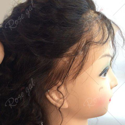 Latest Long Free Part Fluffy Deep Curly Lace Front Human Hair Wig - NATURAL BLACK  Mobile