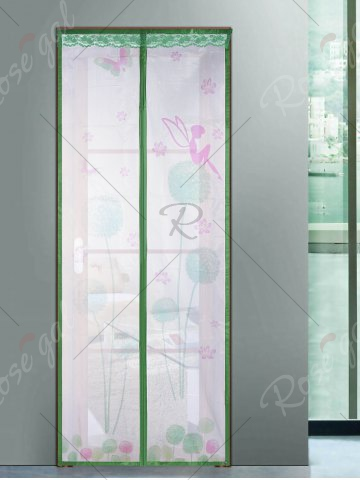 Trendy Mesh Breathable Curtain Anti Insects Magnetic Door Screen - 90*210CM GREEN Mobile