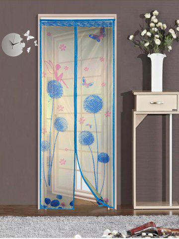 Mesh Breathable Curtain Anti Insects Magnetic Door Screen - Lake Blue - 100*210cm