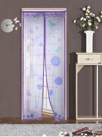 Latest Insect Stopping Net Dandelion Door Screen Magnetic Curtain - 90*210CM PURPLE Mobile