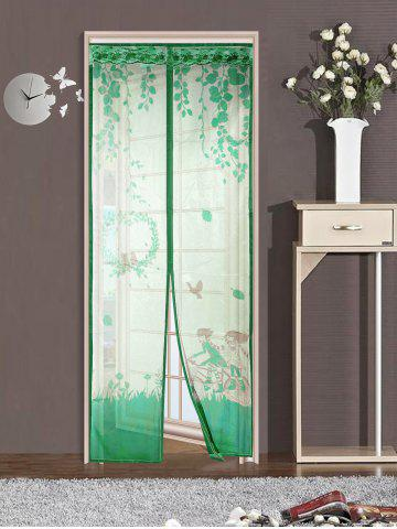 Outfit Magnetic Tulle Mesh Anti Mosquito Curtain Door Screen GREEN 90*210CM