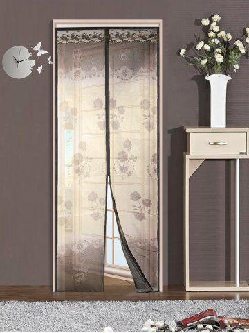 Shops Summer Anti-mosquito Net Magnetic Screen Mesh Curtain COFFEE 90*210CM