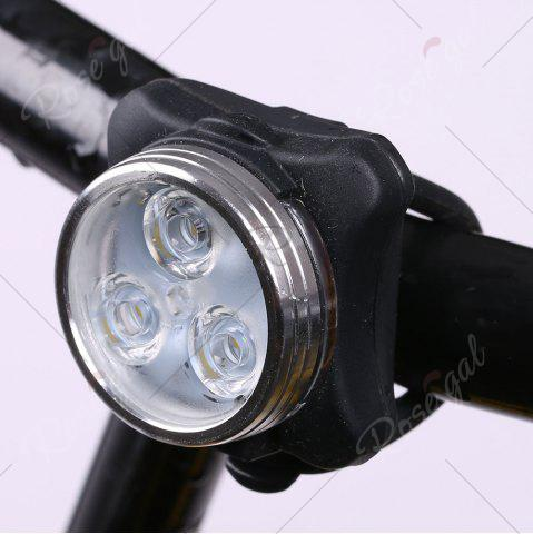 Cheap Outdoor Sport LED Clip On USB Rechargeable Bicycle Light - BLACK  Mobile