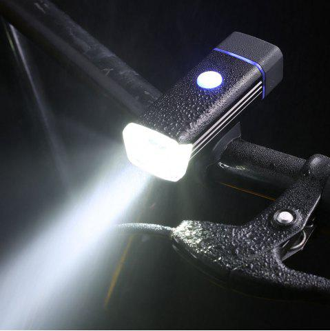 Outdoor Sport USB Rechargeable Aluminum Cycling Light Noir