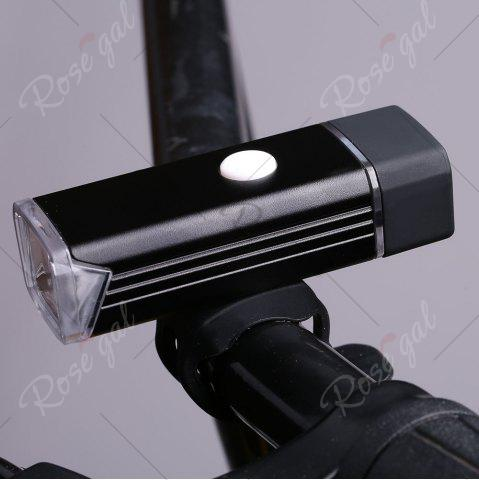 Outfits Outdoor Sport USB Rechargeable Aluminum Cycling Light - BLACK  Mobile
