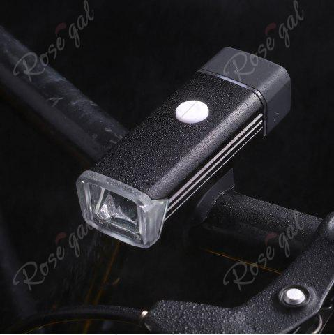 Fashion Outdoor Sport USB Rechargeable Aluminum Cycling Light - BLACK  Mobile