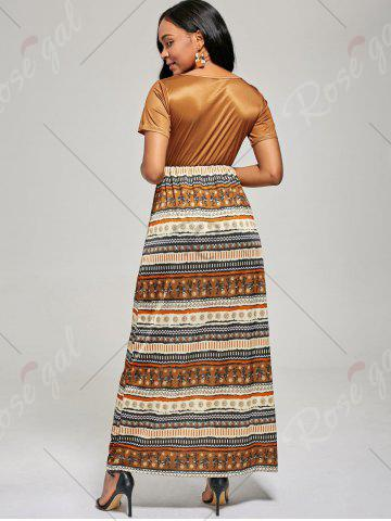 Shops Floor Length A Line Boho Dress - M BROWN Mobile