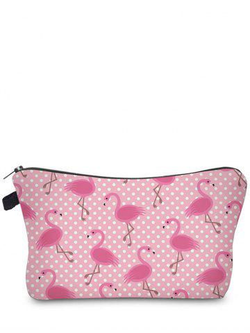 Chic Animal Print Clutch Makeup Bag ROSE RED