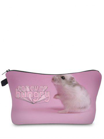 Animal Print Clutch Makeup Bag - Pink
