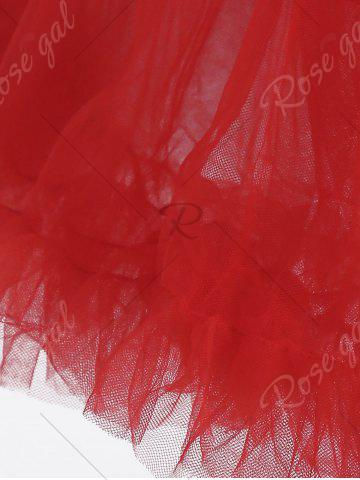 Shops Light Up Ruffles Tutu Voile Cosplay Skirt - ONE SIZE RED Mobile