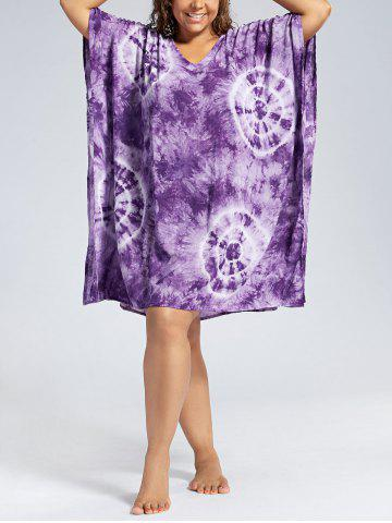 Store Plus Size Cover Up Dress with Batwing Sleeve