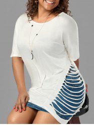Plus Size Ladder Cut Out Side Tunic Tee