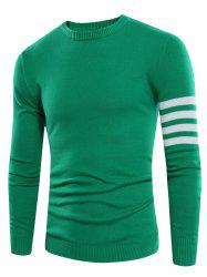 Varsity Stripe Crew Neck Rib Design Sweater