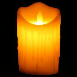 Electronic Swing Pillar Shaped Large Candle Night Light - OFF-WHITE