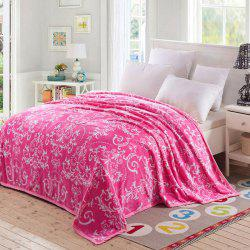 European Style Floral Print Soft Throw Blanket -