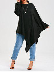 Long Sleeve Asymmetrical Poncho T-Shirt