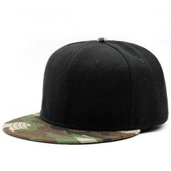 Flat Brim Camo Splicing Baseball Cap