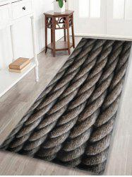 Indoor Outdoor Large Hemp Rope Area Rug - Dun - W24 Inch * L71 Inch