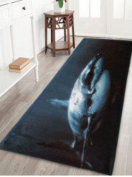 Shark Pattern Coral Velvet Non-Slip Bathroom Rug