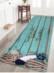 Coral Fleece Wood Grain Soft Absorption Area Rug