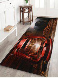 West Cowboy Lantern Coral Fleece Bathroom Rug