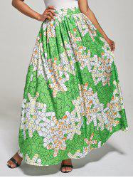 African High Waist Printed Skirt